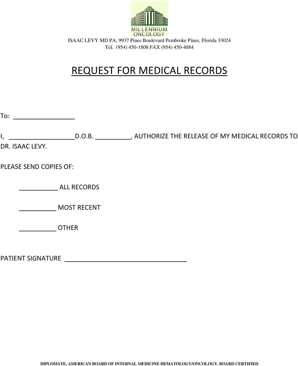 RECORDS TO DR. ISAAC LEVY.