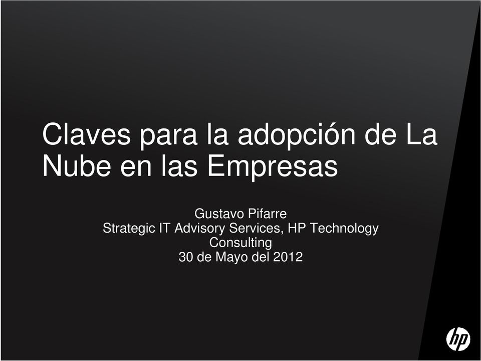 Strategic IT Advisory Services, HP