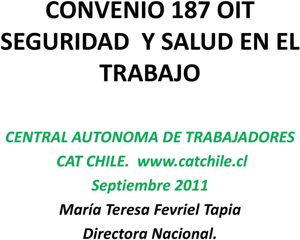 CAT CHILE. www.catchile.
