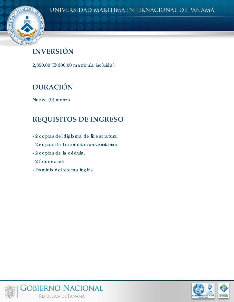 INGRESO - 2 copias del diploma de licenciatura.