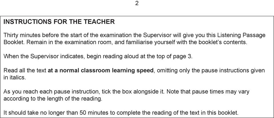 Read all the text at a normal classroom learning speed, omitting only the pause instructions given in italics.