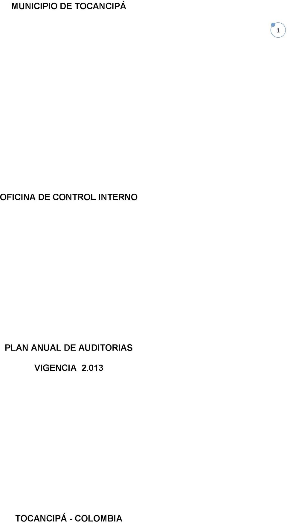 PLAN ANUAL DE AUDITORIAS