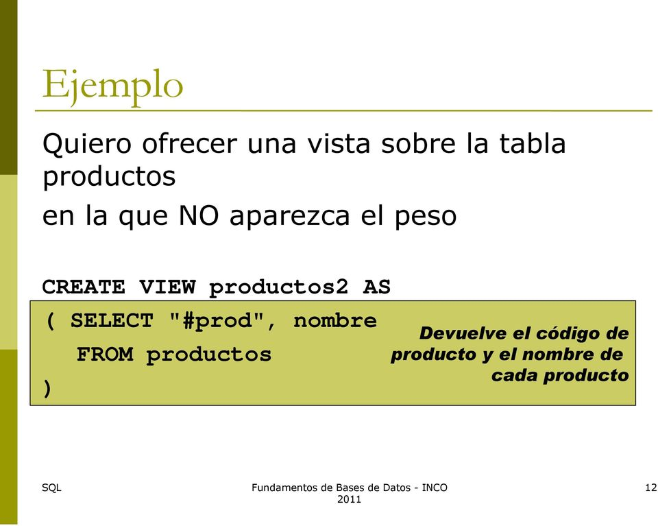 "productos2 AS ( SELECT ""#prod"", nombre ) FROM"
