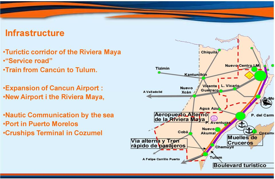 Expansion of Cancun Airport : New Airport i the Riviera Maya, A Valladolid Nuevo Xcán Vicente Guerrero L. Vicario P.