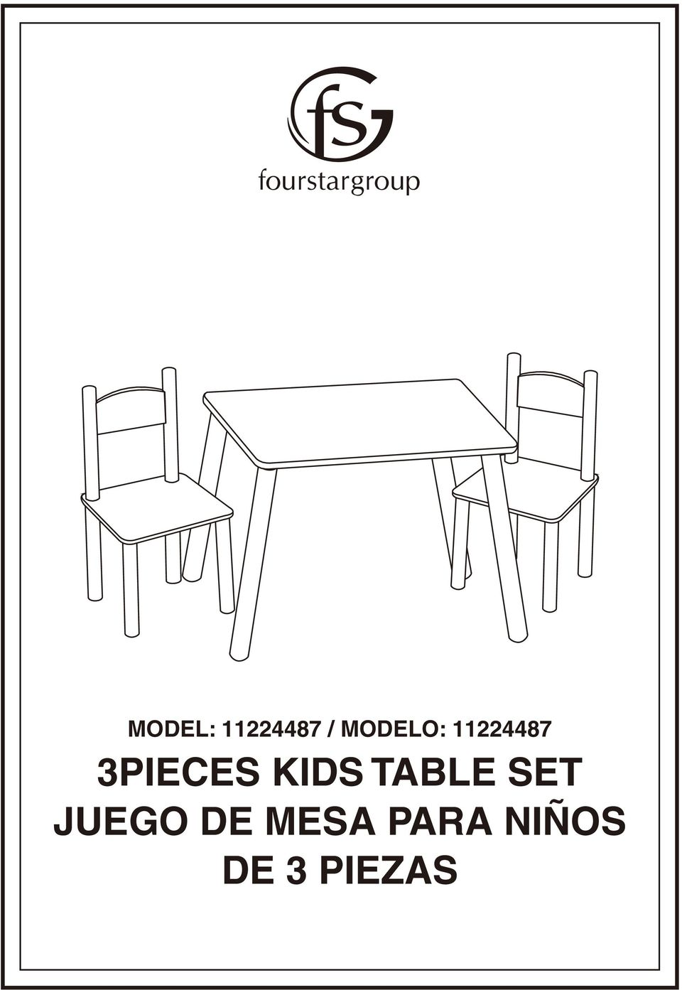 3PIECES KIDS TABLE SET