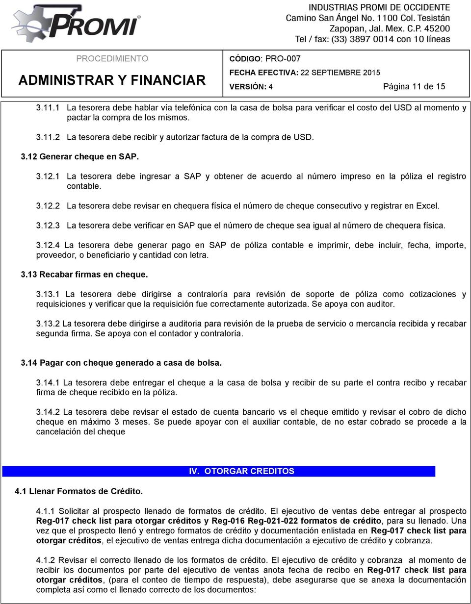 Administrar y financiar pdf for Solicitud de chequera