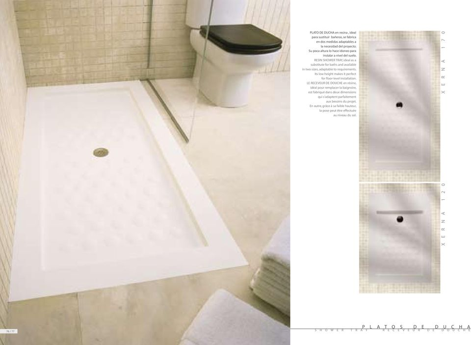 Its low height makes it perfect for floor-level installation.