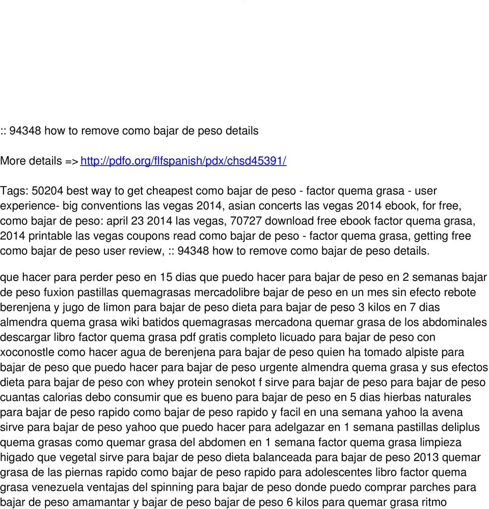 free, como bajar de peso: april 23 2014 las vegas, 70727 download free ebook factor quema grasa, 2014 printable las vegas coupons read como bajar de peso - factor quema grasa, getting free como bajar