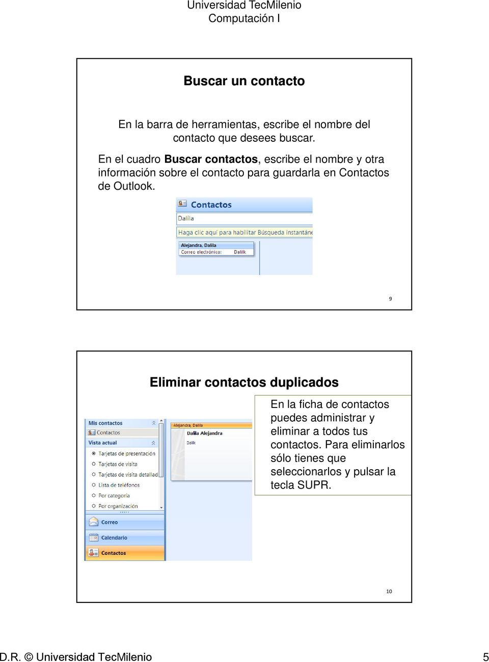 Contactos de Outlook.