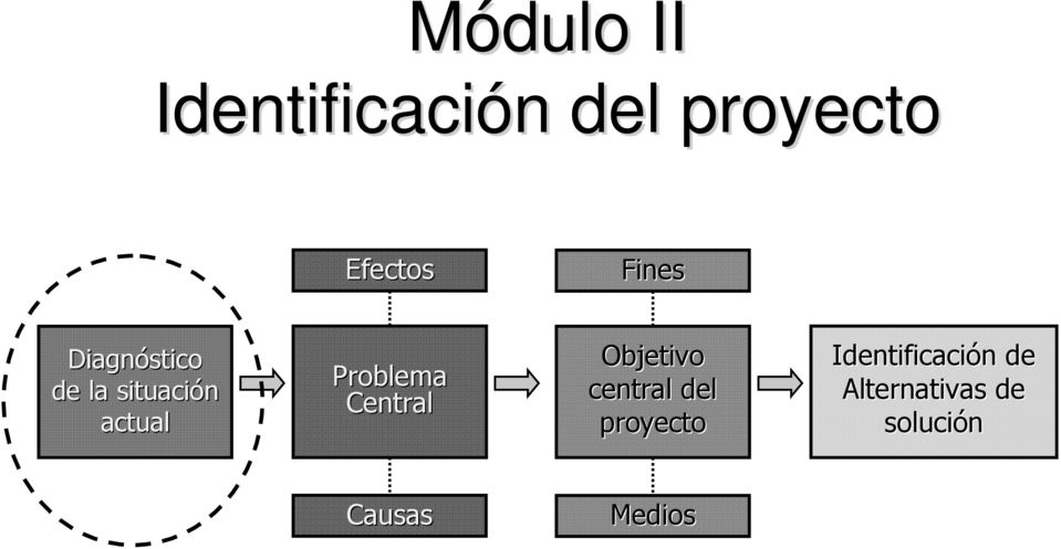 Problema Central Objetivo central del proyecto