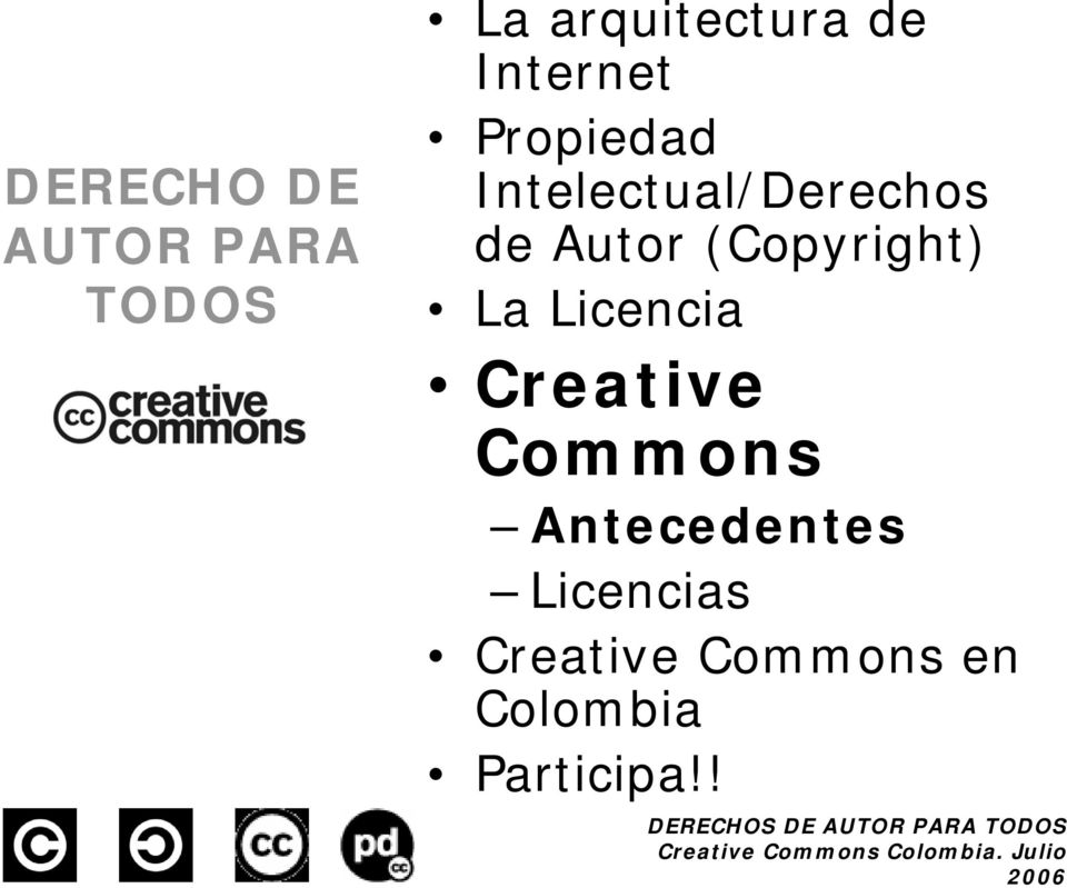 (Copyright) La Licencia Creative Commons