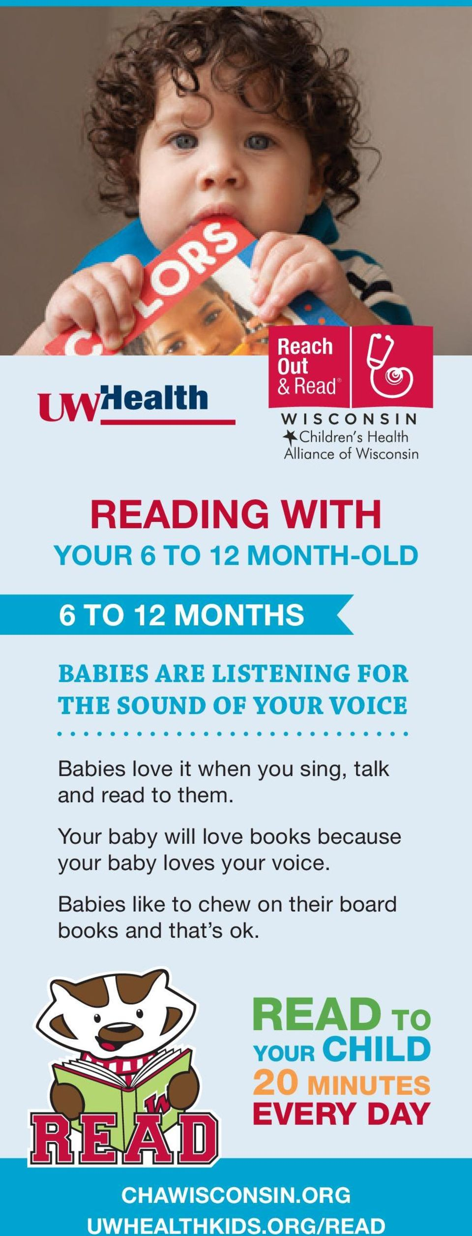 Your baby will love books because your baby loves your voice.