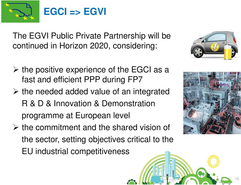of an integrated R & D & Innovation & Demonstration programme at European level the commitment and