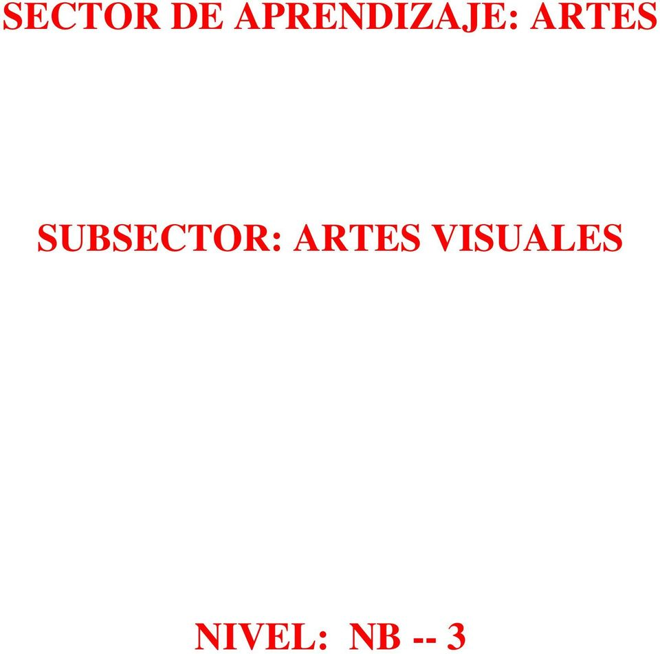 ARTES SUBSECTOR: