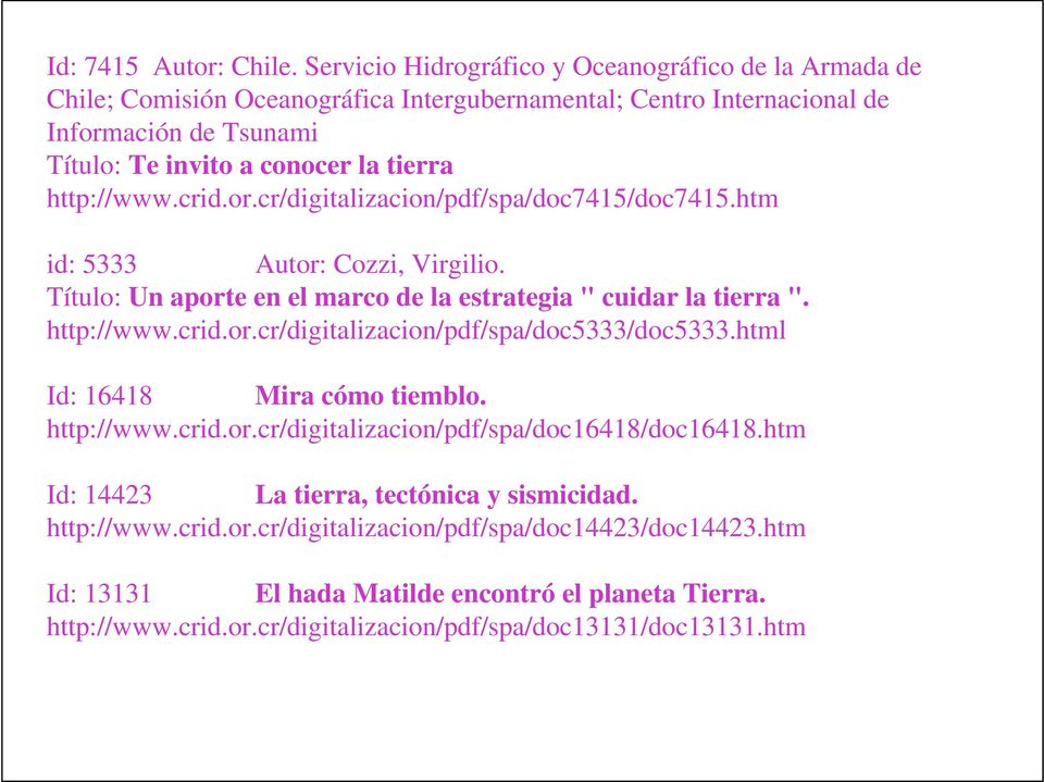 "or.cr/digitlizcion/pdf/sp/doc7415/doc7415.htm id: 5333 Autor: Cozzi, Virgilio. Título: Un port n l mrco d l strtgi "" cuidr l tirr "". http://www.crid.or.cr/digitlizcion/pdf/sp/doc5333/doc5333."