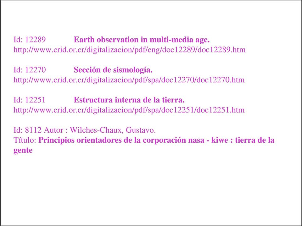 htm Id: 12251 Estructur intrn d l tirr. http://www.crid.or.cr/digitlizcion/pdf/sp/doc12251/doc12251.