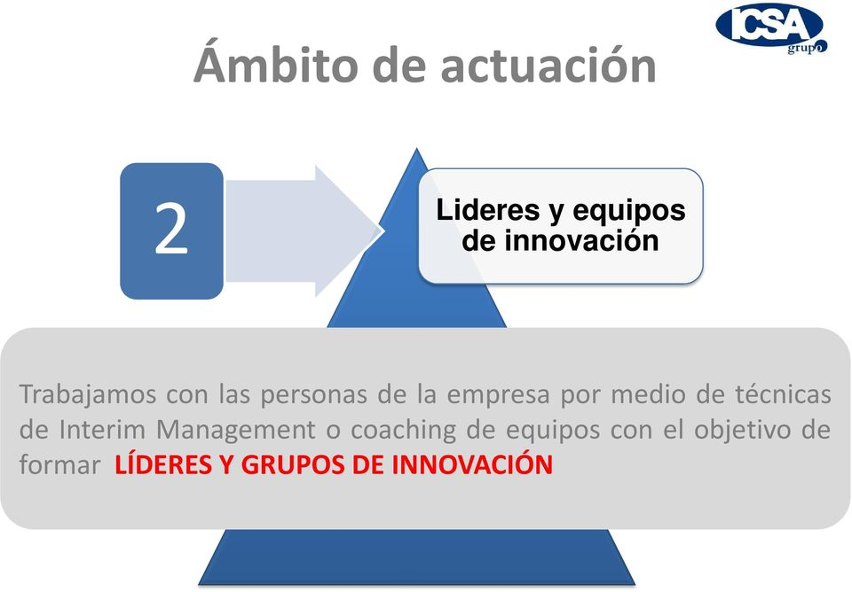 técnicas de Interim Management o coaching de equipos
