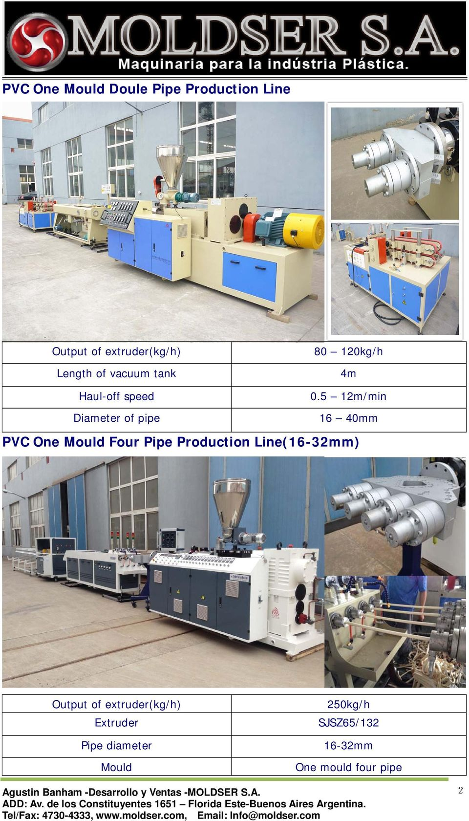 5 12m/min 16 40mm PVC One Mould Four Pipe Production Line(16-32mm) Output of