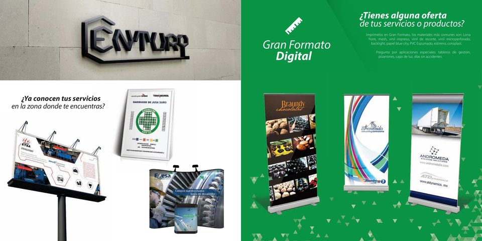 impreso, vinil de recorte, vinil microperforado, backlight, papel blue city, PVC Espumado, estireno,
