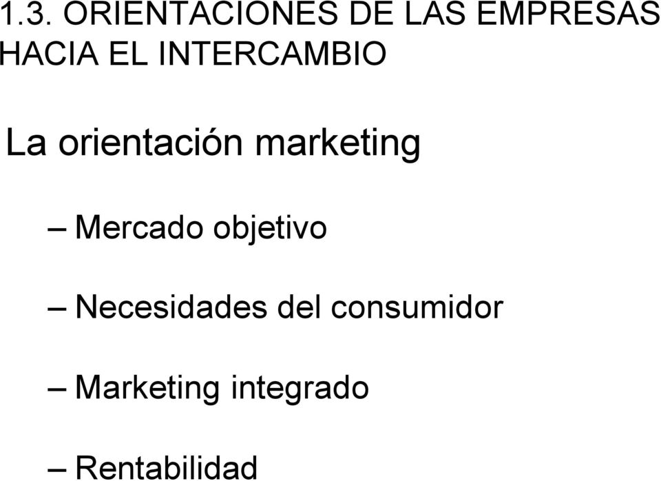 marketing Mercado objetivo Necesidades