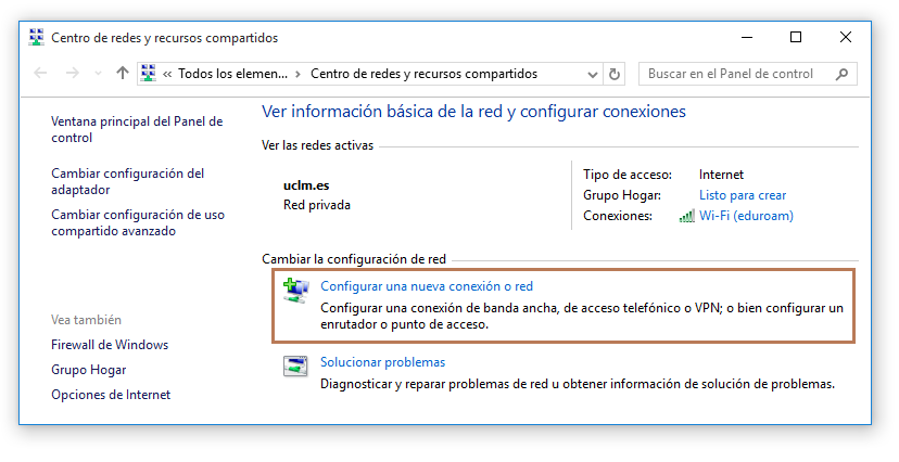 4 Configuración de la VPN en Windows 10 4.