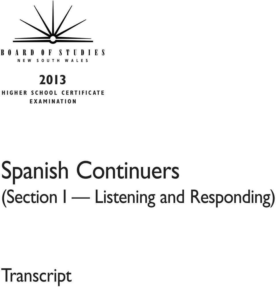 O N Spanish Continuers (Section I