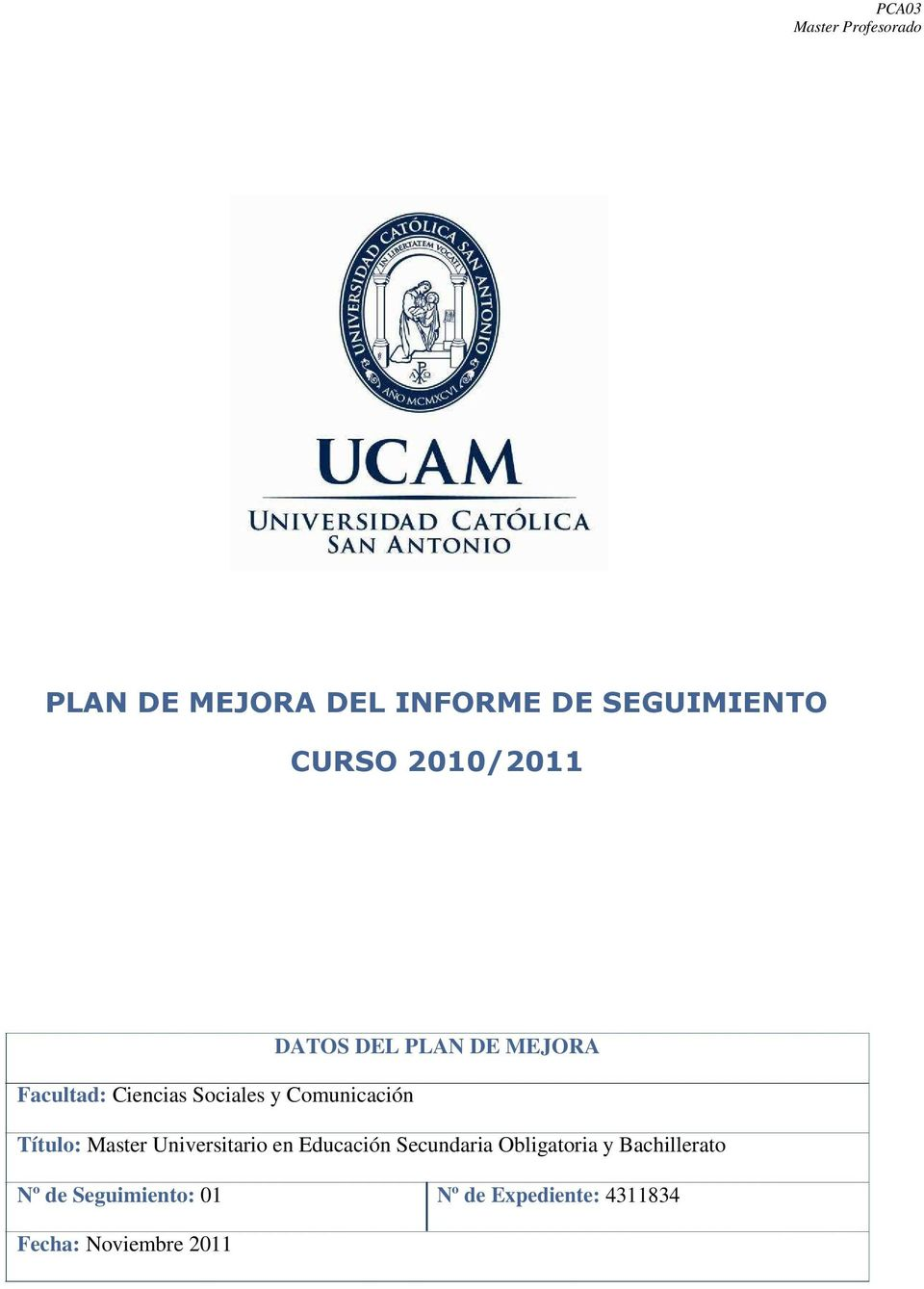 Master Universitario en Educación Secundaria Obligatoria y