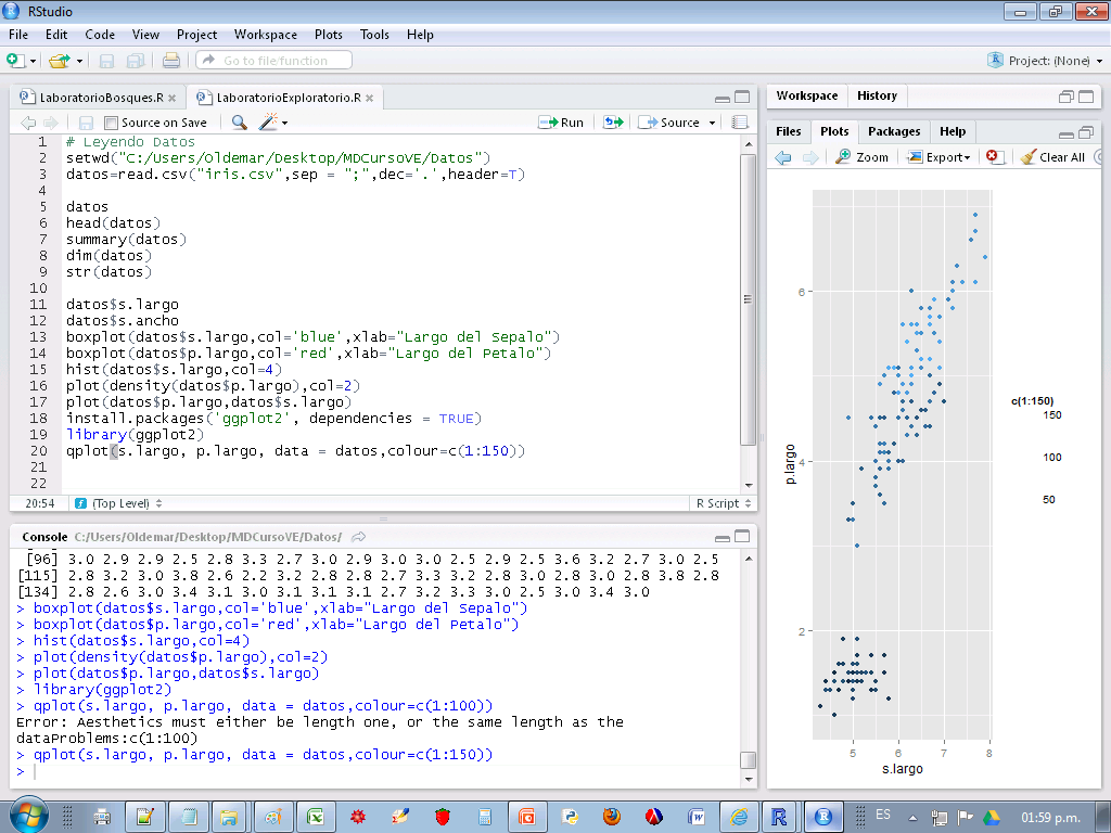 Explorando datos en
