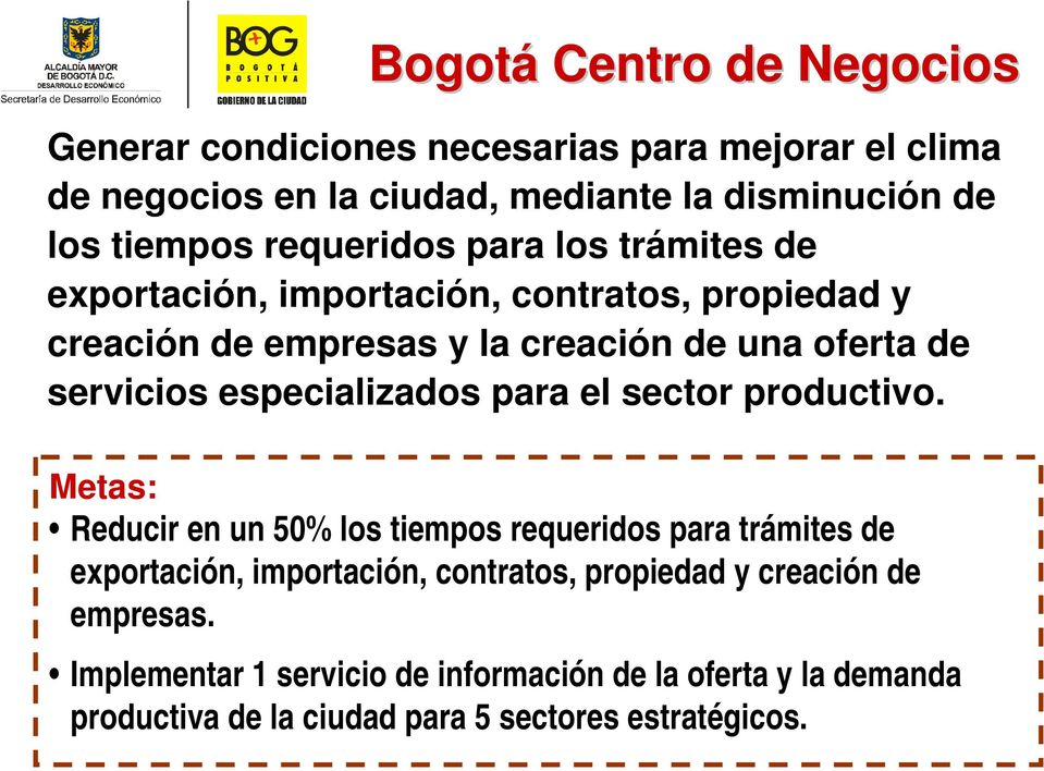 especializados para el sector productivo.