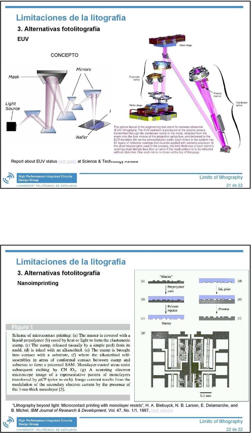 Alternativas fotolitografía Nanoimprinting Lithography beyond light: Microcontact printing