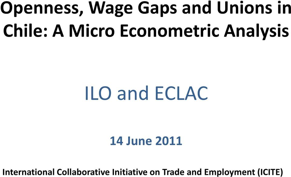 ECLAC 14 June 2011 International