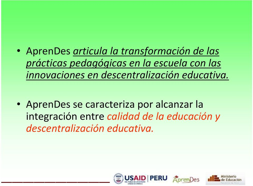 descentralización educativa.