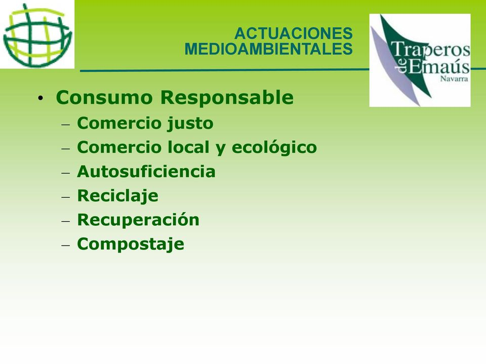 Comercio local y ecológico