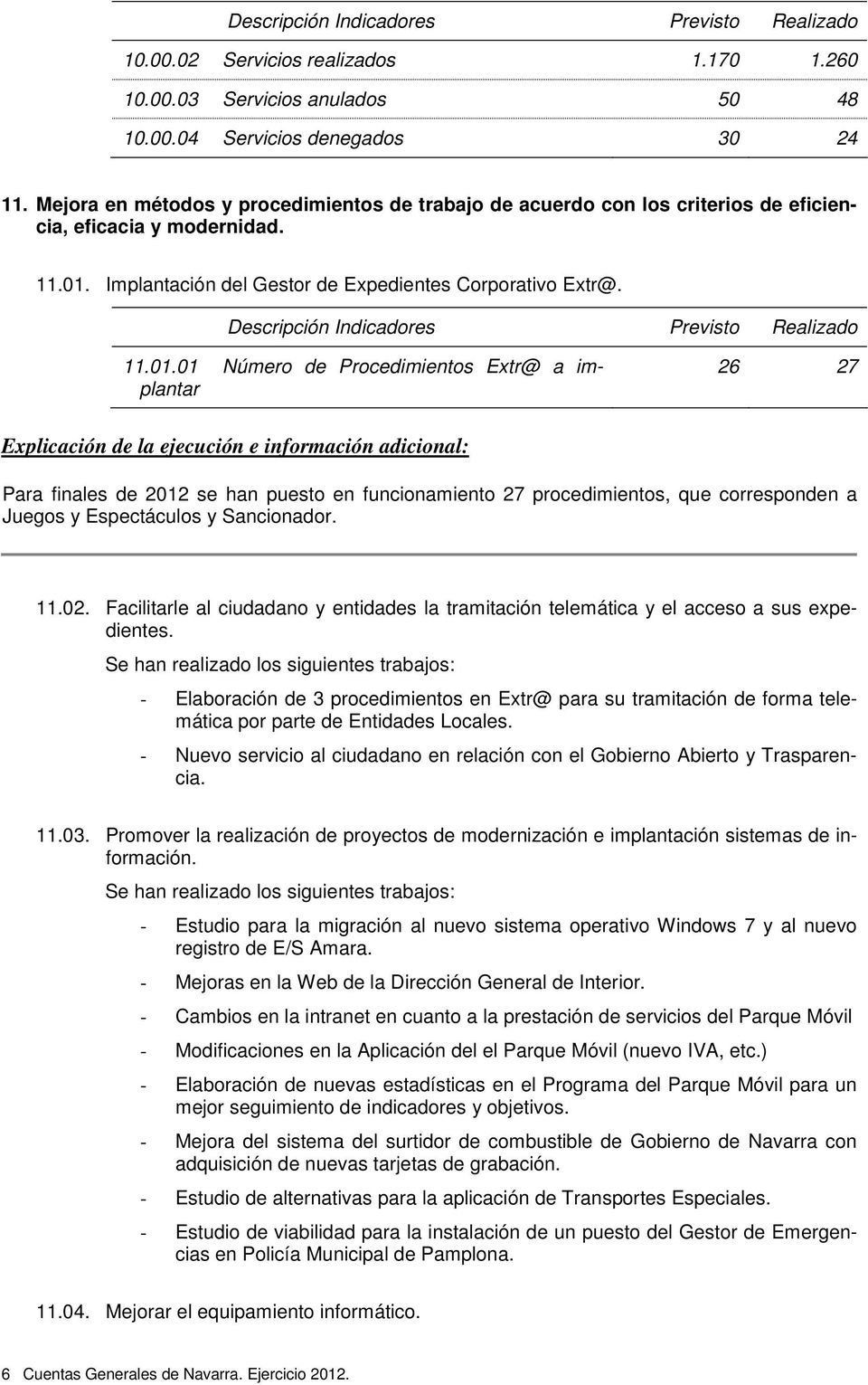 Implantación del Gestor de Expedientes Corporativo Extr@. 11.01.