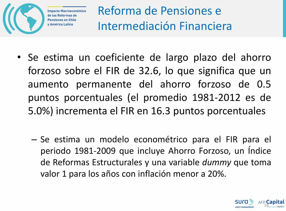 0%) incrementa el FIR en 16.