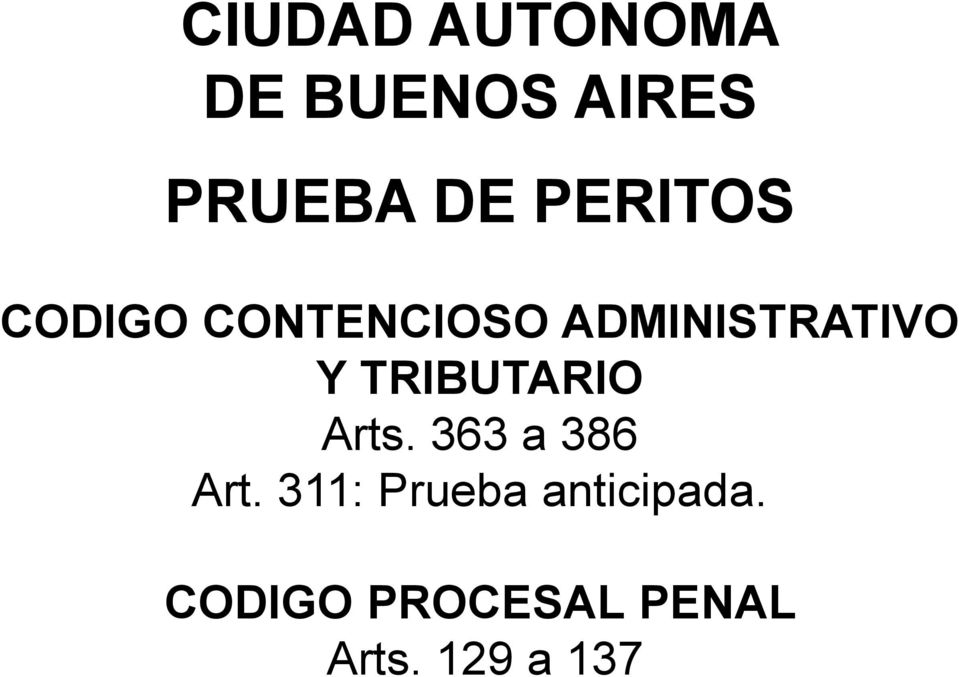 TRIBUTARIO Arts. 363 a 386 Art.