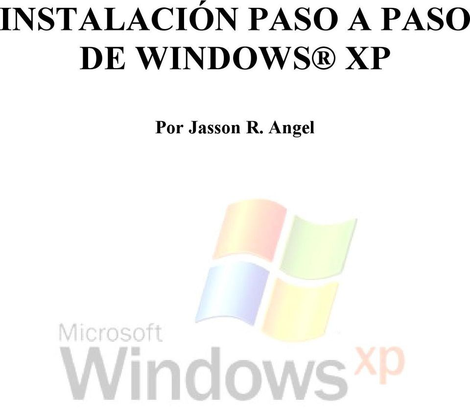 WINDOWS XP Por
