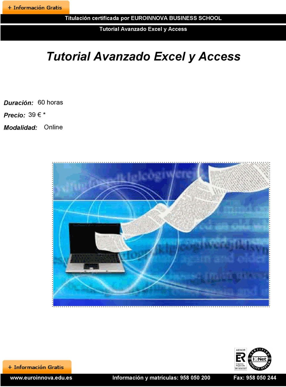 Access Tutorial Avanzado Excel y Access