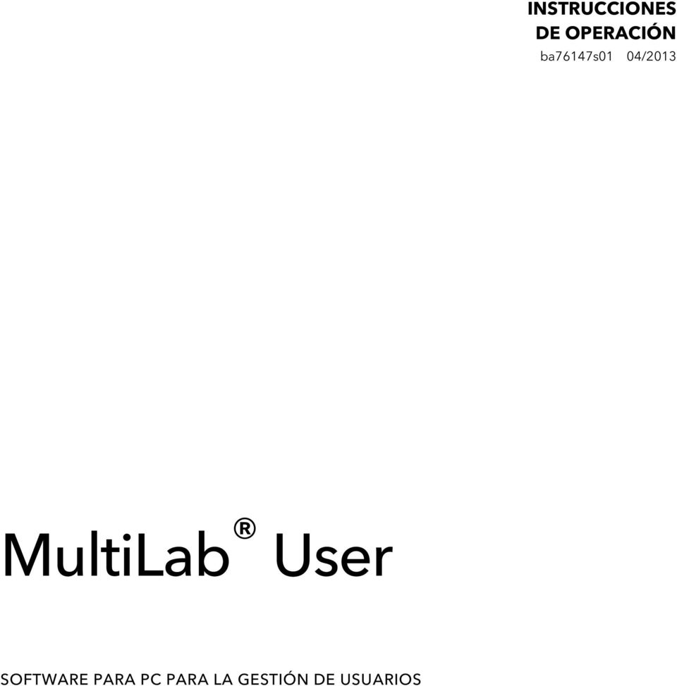 04/2013 MultiLab User