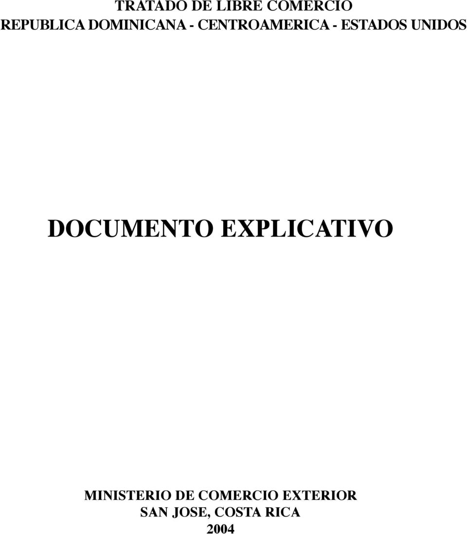 ESTADOS UNIDOS DOCUMENTO EXPLICATIVO
