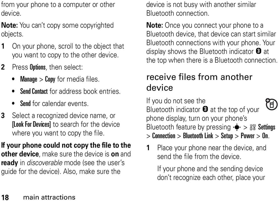 3 Select a recognized device name, or [Look For Devices] to search for the device where you want to copy the file.