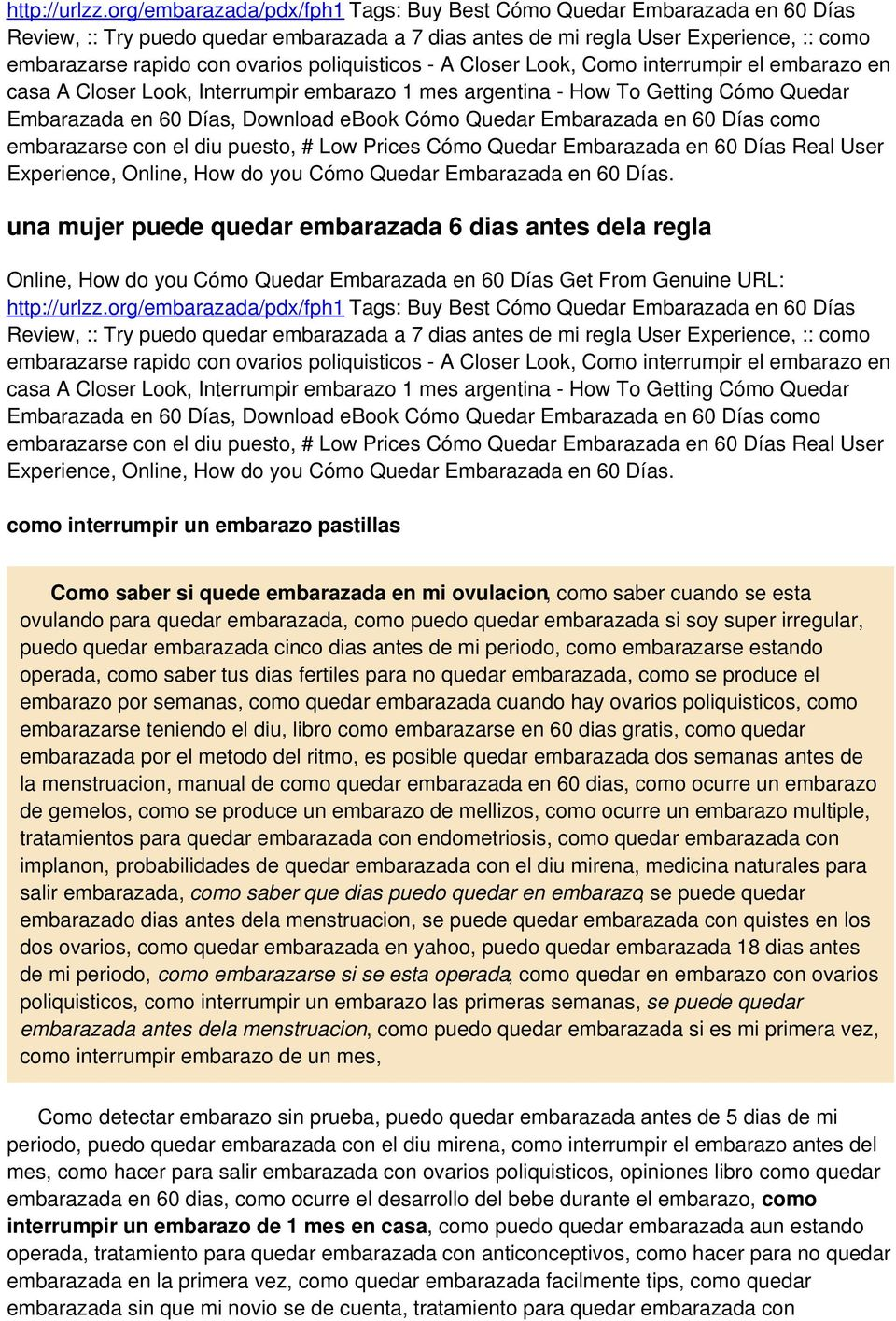 poliquisticos - A Closer Look, Como interrumpir el embarazo en casa A Closer Look, Interrumpir embarazo 1 mes argentina - How To Getting Cómo Quedar Embarazada en 60 Días, Download ebook Cómo Quedar