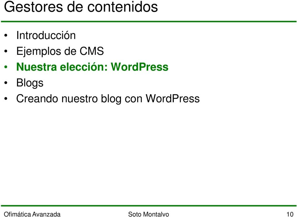 WordPress Blogs Creando nuestro blog