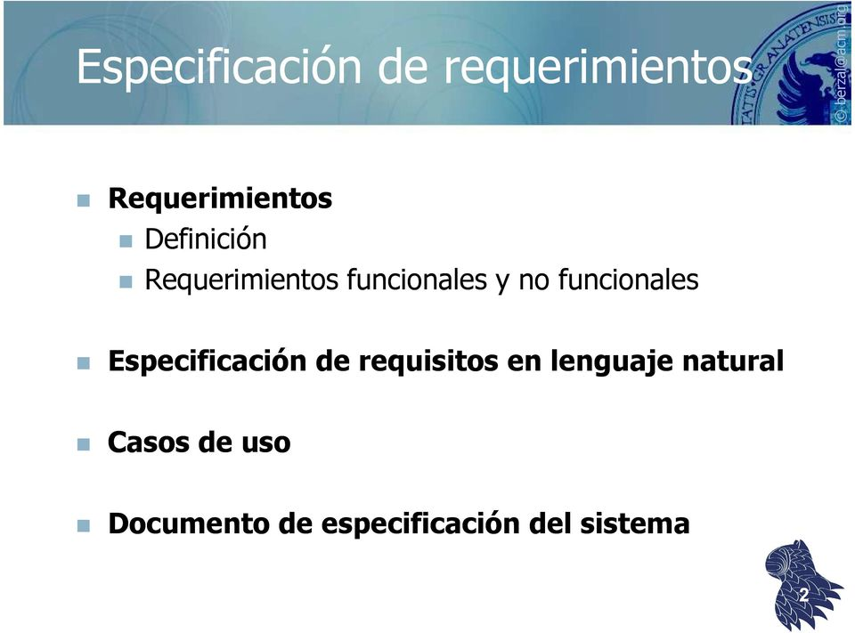 funcionales Especificación de requisitos en