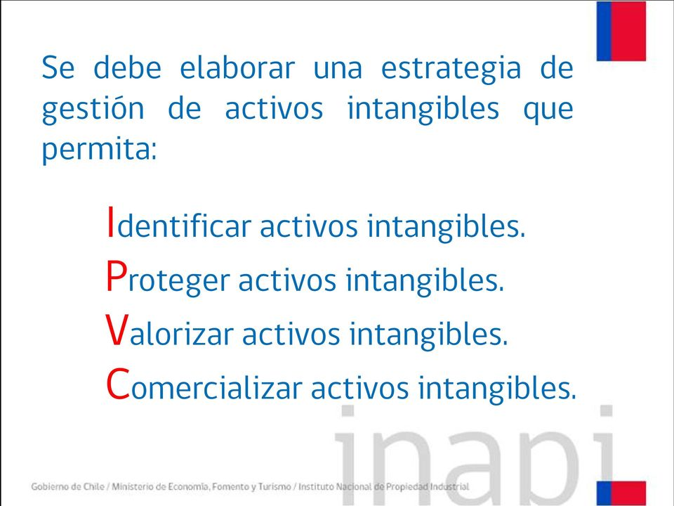 activos intangibles. Proteger activos intangibles.