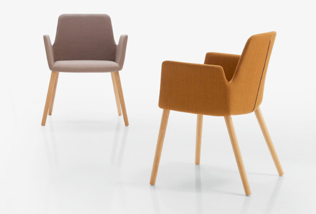 75 en The wooden legs of natural oak add warmth and style to the armchairs making them an ideal feature for hotels, restaurants or homes of a contemporary design.