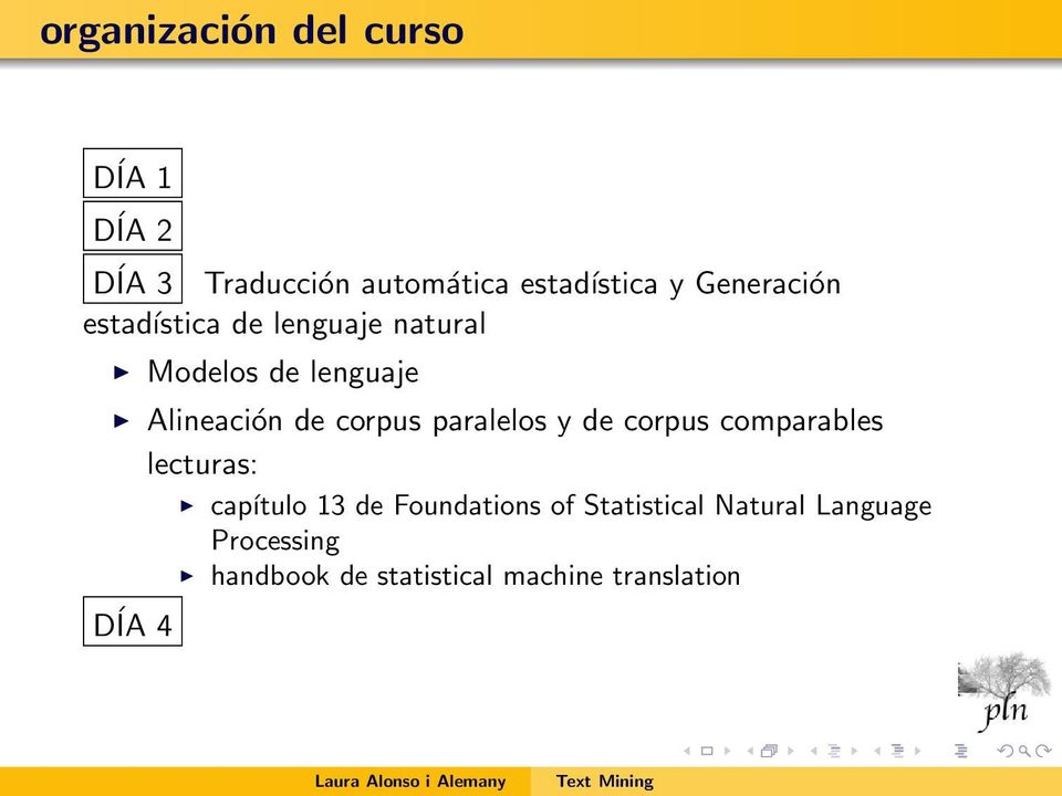 corpus paralelos y de corpus comparables lecturas: capítulo 13 de Foundations of