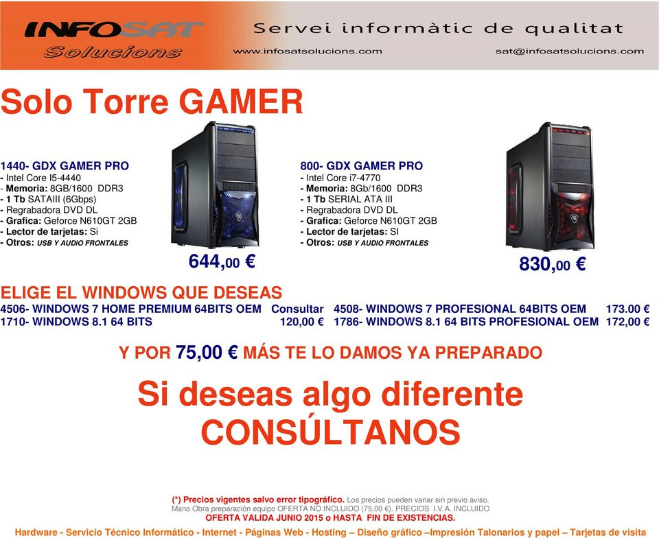 WINDOWS 7 HOME PREMIUM 64BITS OEM Consultar 4508- WINDOWS 7 PROFESIONAL 64BITS OEM 173.