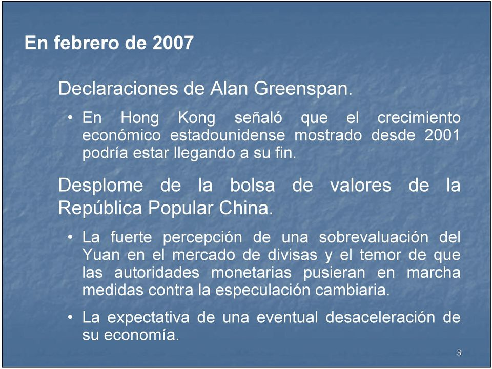 Desplome de la bolsa de valores de la República Popular China.