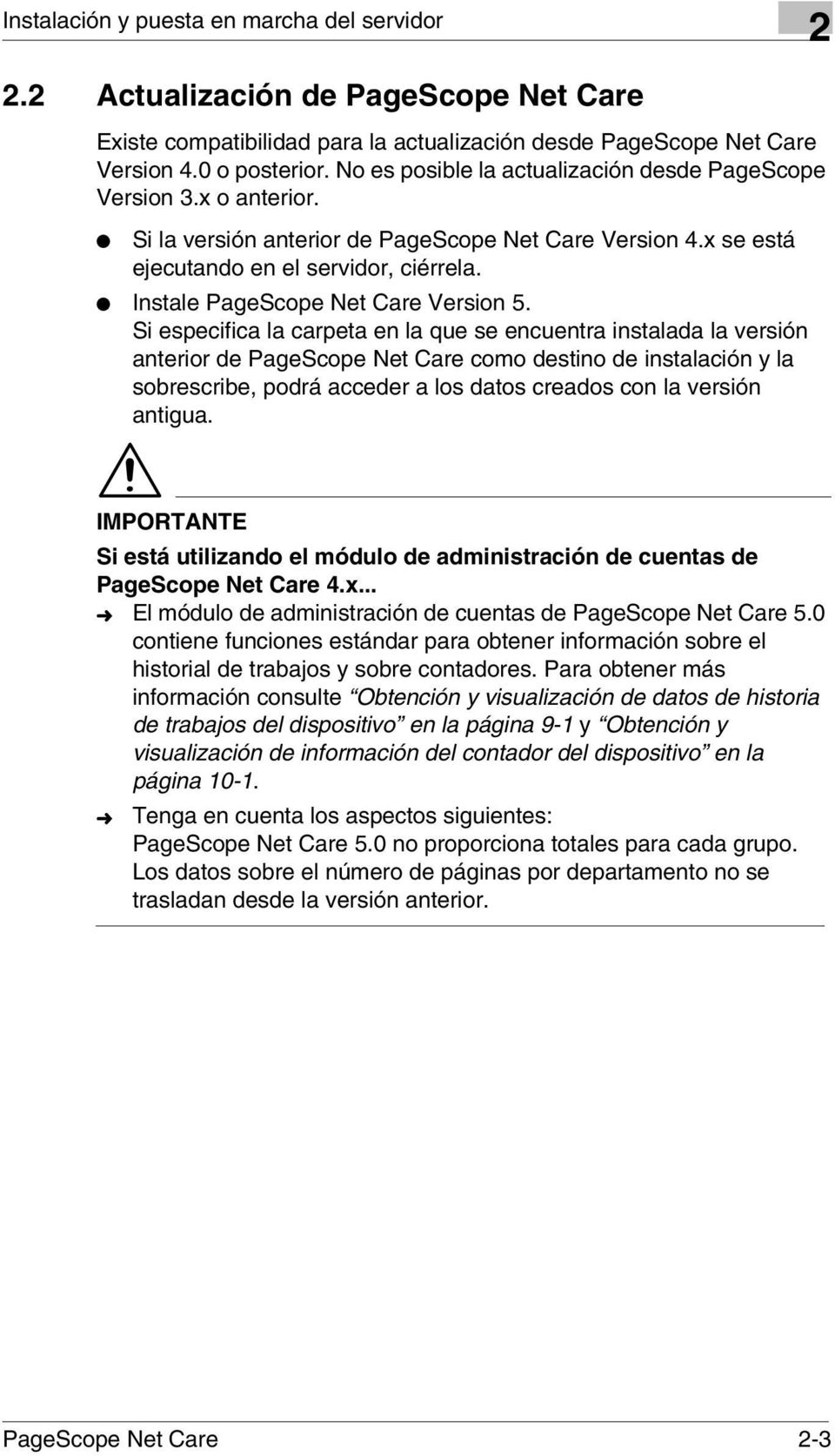 Instale PageScope Net Care Version 5.